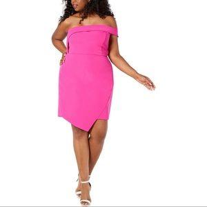 New Womens Juniors Off-the-Shoulder Scuba Dress